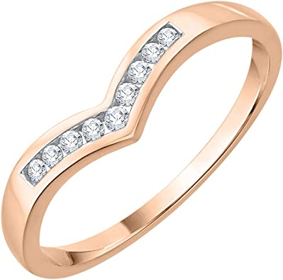 1//10 cttw, Diamond Wedding Band in 10K Yellow Gold G-H,I2-I3 Size-12.25