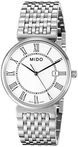 mido-mens-mido-m11304261-dorada-analog-display-quartz-silver-watch