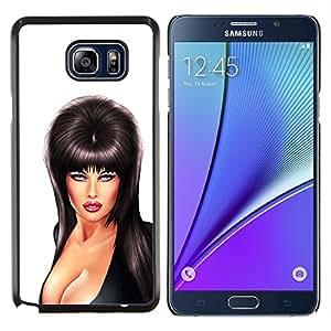 Músico Sexy Escote Mujer de mama- Metal de aluminio y de plástico duro Caja del teléfono - Negro - Samsung Galaxy Note5 / N920