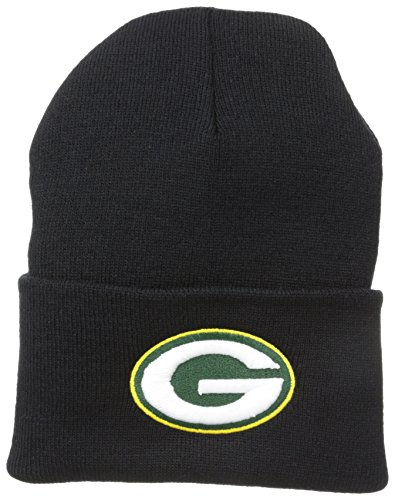 Green Bay Packers Apparel (NFL Green Bay Packers '47 Raised Cuff Knit Hat, Black, One)