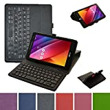 """ASUS Zenpad 8.0 Z380C Bluetooth Keyboard Case,Mama Mouth Coustom Design Slim Stand PU Leather Case Cover With Romovable Bluetooth Keyboard For 8"""" Asus ZenPad 8.0 Z380C Z380KL Android Tablet,Black"""