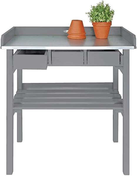 Esschert Design Potting Table Gray