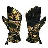 10x Hunting Gloves Full Finger Pro Anti-Slip Camo Realtree Archery Accessories Hunting Outdoors Slip Resistant Pvc Dots on Palm and Finger Long-Lasting Durability and All-Day Long Comfort 6304xl