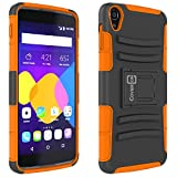 "Alcatel OneTouch Idol 3 (5.5"") Case, CoverON® [Explorer Series] Tough Hybrid Armor Belt Clip Hard Phone Cover For Alcatel OneTouch Idol 3 (5.5"") Holster Case - Neon Orange & Black"