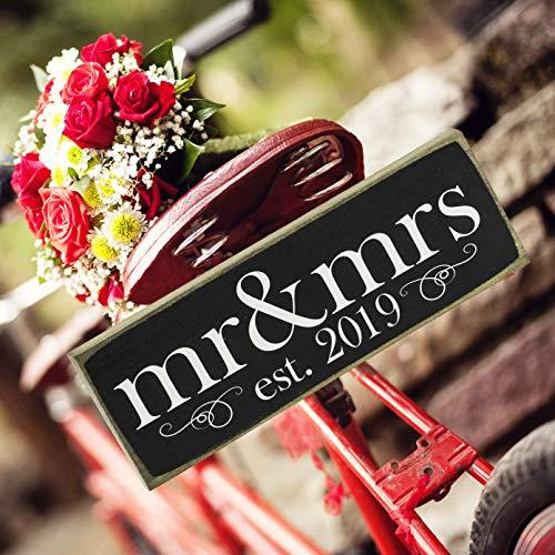 2019 mr & mrs Wedding Sign ()