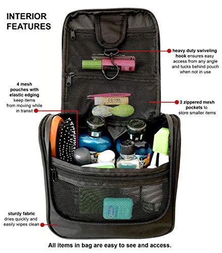 Jual WAYFARER SUPPLY Hanging Toiletry Bag  Pack-it-flat Travel Kit ... 68c895d0aefdf