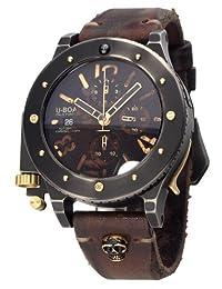 U-Boat Men's 6473 U-42 Chrono Gold 47 mm Black Dial Watch