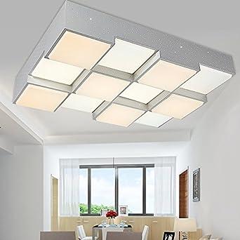 KHSKX Lámpara de techo,12 luces de techo led cuadrado minimalista ...