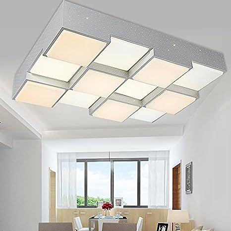 KHSKX Lámpara de techo,12 luces de techo led cuadrado ...