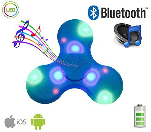 Fidget Spinner With Built In Led Bluetooth Speaker Hand