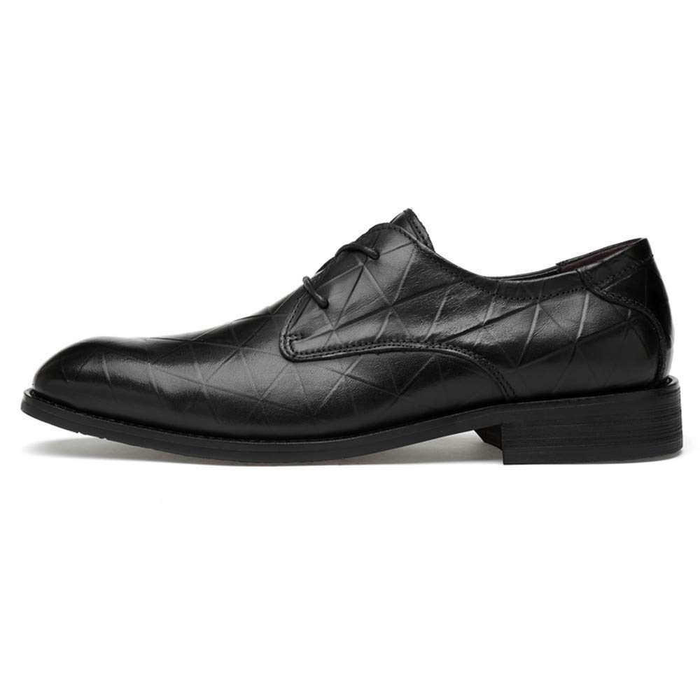 FuweiEncore 2018 Herren Business Casual Oxford Schuhe, Casual Business Classic Rostfrei Metall Schnalle Bequem Cover Füße Formale Schuhe (Spitze Schuh Optional) (Farbe   schwarz Tie, Größe   39 EU) e3575f