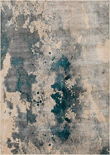 Luxe Weavers Abstract Blue 8x10 Area Rug