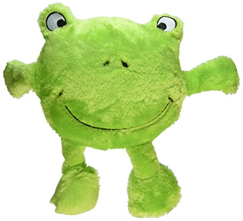 ZippyPaws Brainey Squeaky Plush Dog Toy, Frog