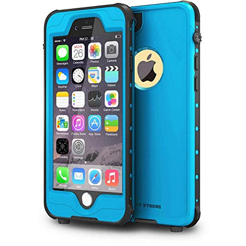 IMPACTSTRONG iPhone 6 Waterproof Case [Fingerprint ID Compatible] Slim Full Body Protection Cover for Apple iPhone 6 / 6s (4.7) - Sky Blue