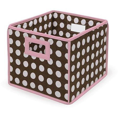 Badger Basket – Folding Hamper /ストレージビン、ブラウンPolka Dots withピンクトリム   B019S8QLW0