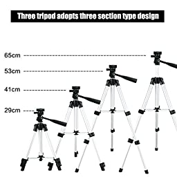 NUTK Portable iPhone Camera Tripod Stand Holder, Adjustable Rotatable Retractable Aluminum Tripods Smartphones Mount for iPhone7 7Plus 6s Plus 6 SE 5 5C Samsung Galaxy S6 S7