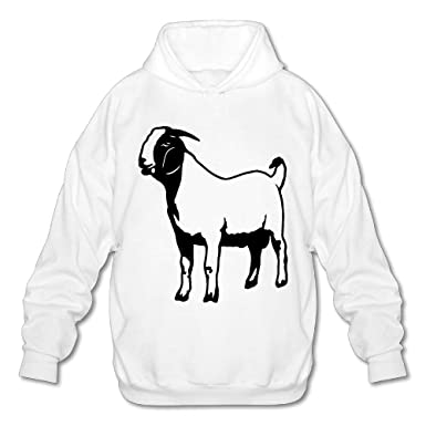 Amazon.com  Big Men s Boer Goat Silhouette Printed Hooded Sweatshirt ... 904117c3b
