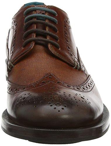Zapatos Brogue Senape De Cuero Marrón Bronceado De Ted Baker