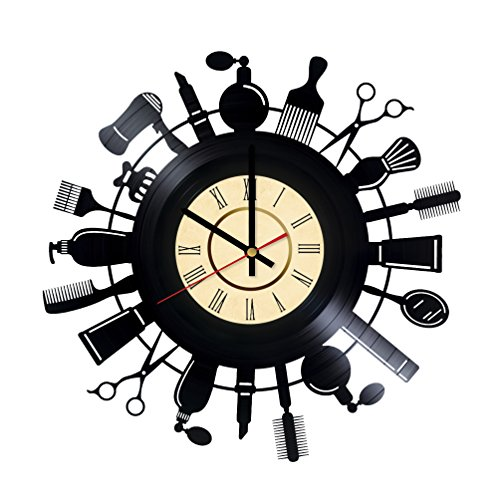 Hair Stylist Salon Vinyl Clock