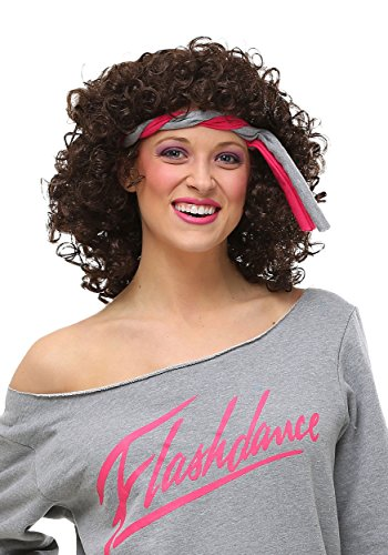 Fun Costumes Women's Flashdance Jennifer Beals Curly Wig
