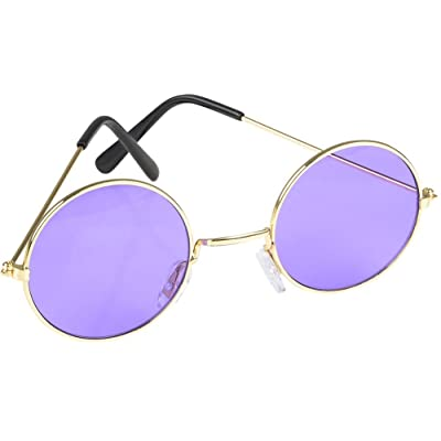 Rhode Island Novelty Round Color Lens Sunglasses 1 Pair of Purple Glasses: Toys & Games