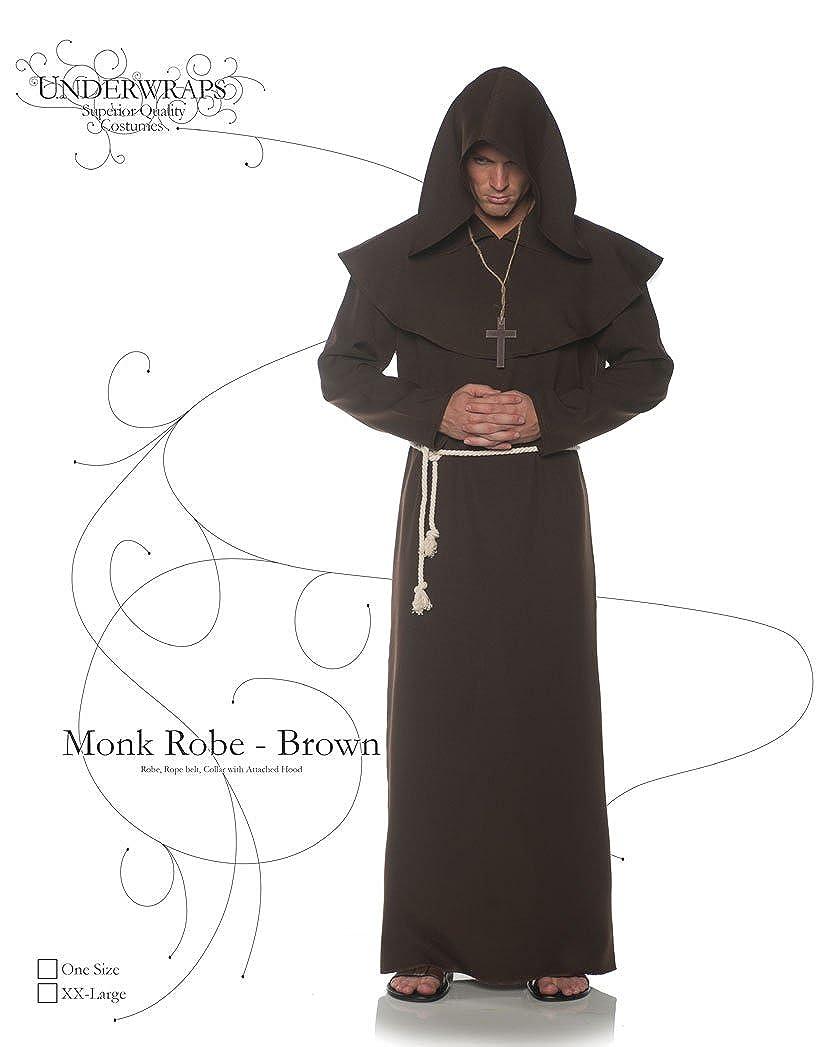 Amazon.com  Underwraps Brown Monk Mens Adult Religious Costume Robe   Clothing 9168ef976