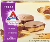 Atkins Endulge Treats, Peanut Butter Cup, 5 Count, 1.2oz Cups (Pack of 6)