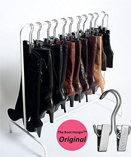 Boottique Boot Rack with 6 Silver Hangers