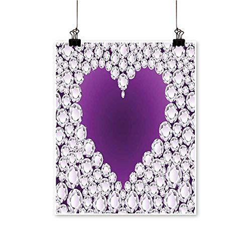 - Hanging Painting He Silver Crystal Diam Ladi Romantic Love Purple and Gray Rich in Color,12