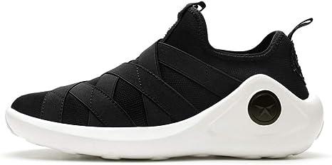 HDWY Zapatillas de Running de Tela Suave Acolchada Resistente al Desgaste, Zapatos Casuales para Hombre Zapatillas de Correr, Negro, 8UK: Amazon.es: Deportes y aire libre