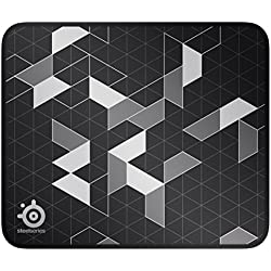 1f0e5ceb519 1 of SteelSeries QcK Gaming Surface - Medium Stitched Edge Cloth Limited -  Extra Durable - Optimized For Gaming Sensors - Black/Silver