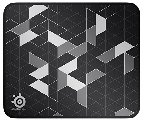 SteelSeries QcK Gaming Surface - Medium Stitched Edge Cloth Limited - Extra Durable - Optimized For Gaming Sensors - Black/Silver