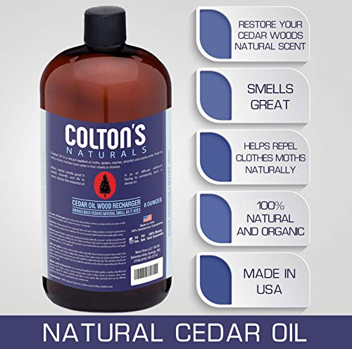 Colton's Naturals Cedar Oil Wood Replenish & Restore Original Cedar Scent (8 Ounces)