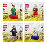 ninjago ninja db x - Lego Bricktober Retro Minifigure Magnet 4 Pack Set includes: Forestman (1990), Knight (1978), Astronaut (1984) & Ninja Princess (1999)