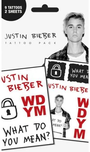 GB Eye, Justin Bieber, What Do You Mean, Temporary Pack de ...