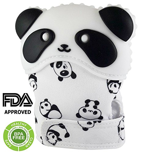 NIRVO- Panda Baby teether Toy, Teething Mitten - BPA Free, Helps to Soothe Painful Gums, Teething Gloves for Babies, Baby Toy