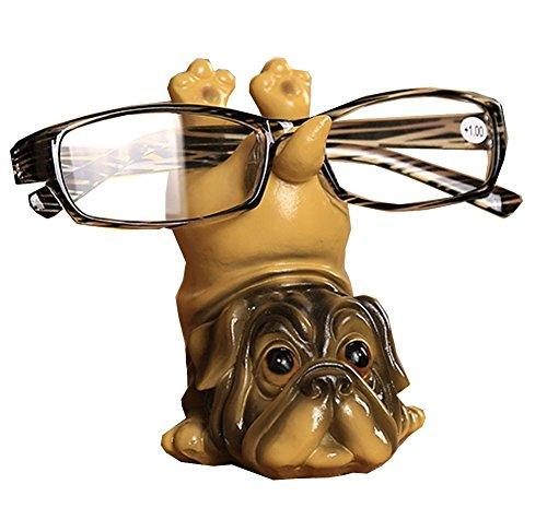Dog Resin Eyeglass Holder,Animal Spectacle Holder Eyeglass Display Stand Sunglasses Holder Home Decoration