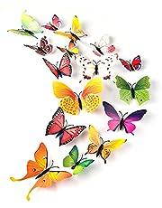 TUPARKA 36 Stuks 3D Vlinder Muurstickers Muur Vlinders Meisjes Slaapkamer Accessoires