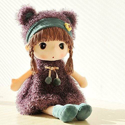 Plush Toys ,17'' Girl Doll Super Soft Plush Puppy Stuffed Animal Toy ( Purple )
