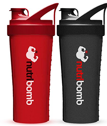 Nutribomb Thunderball Protein Shaker (Red and Black combo)
