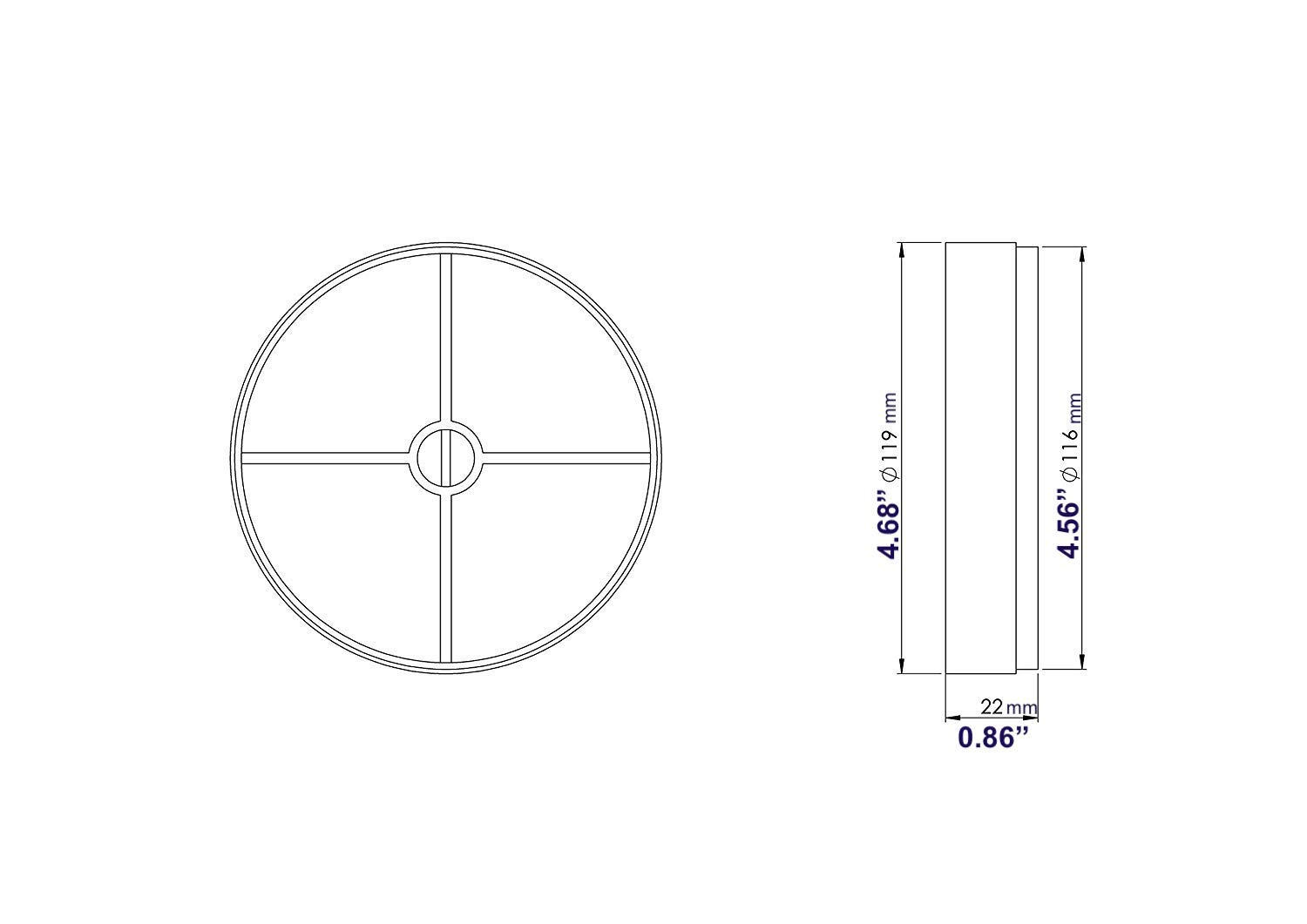 5'' Backdraft Damper Inline Spring Loaded - Insertable Vent Spring (5'' inch) // 125mm by Ozo Brothers