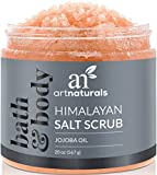 scrub ArtNaturals Himalayan Salt Body Scrub, Deep Cleansing Exfoliator with Shea Butter, Dead Sea Salt, Vitamin C and Essential Oils, Moisturizes, Nourishes Soothes and Promotes Glowing, 20 oz.