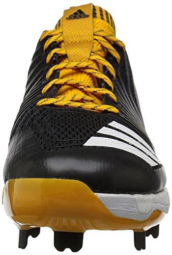 Scarpa Da Baseball Adidas Uomo Man Freak X Carbon, Nero / Bianco / Oro Collegiata, 8,5 Mezze Medie