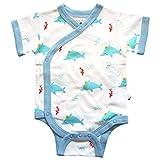 ocean clothing - Babysoy 100% Organic Cotton Dolphin Short Sleeve Kimono Onesie/Bodysuit (3-6 Months, Ocean)