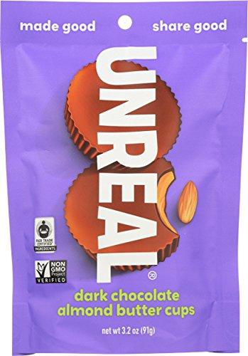 UNREAL Dark Chocolate Almond Butter Cups   Vegan, Gluten Free, Less Sugar   6 ()