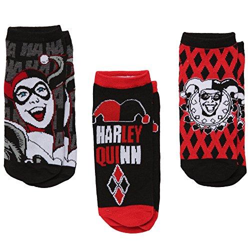 Harley Quinn Women's 3-pack Low-cut Socks -