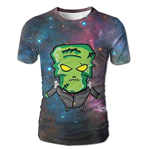 Happy Halloween Angry Zombies 3D Creative Print Pattern Graphic T-Shirt Printed Tshirts Short Sleeve