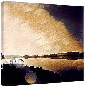 لوحات فنية جدارية مطبوعة علي قماش الكانفاس القطني مثبتة على إطار مخفي 110X110