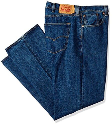 Levi's Men's Big and Tall Big & Tall 501 Original Shrink-to-Fit Jean, Dark Stonewash, 56W x 28L ()