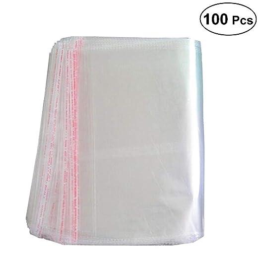 OUNONA Bolsas de Celofán Autoadhesivas Transparente 25 x 40cm - 100 Piezas